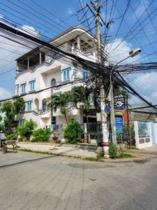Tan Chau, along the Mekong delta has a typical electrical distribution system