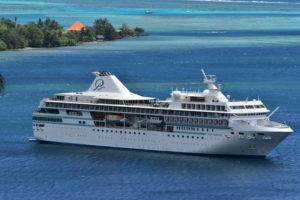 The Paul Gauguin holds no more than 330 passengers