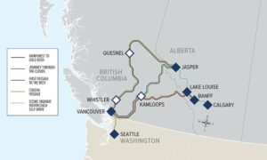 Rocky Mountaineer routes,