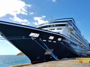 The Azamara Quest docked in St. Thomas USVI